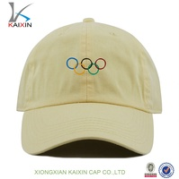 100% Cotton 6 Panel 3D or 2D Embroidery Baseball Cap/dad Hat/Headwear