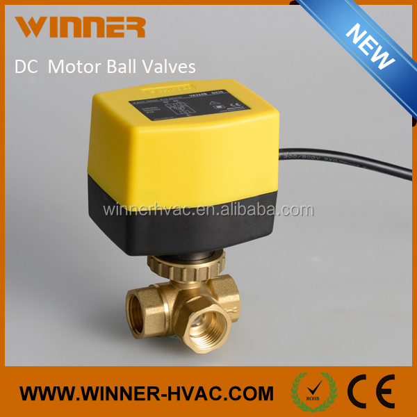 12V DC Motor Electric Ball Valves 3 Wire Control