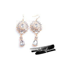 Latest Dress Designs Best Quality Earrings Saudi Gold Jewelry