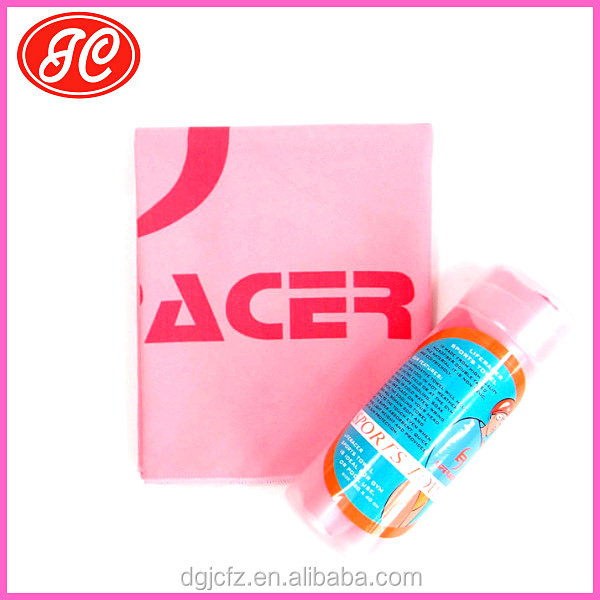 High quality quick dry OEM Microfiber sport/travel towel in tube pacakge