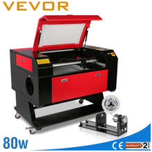 Laser Engraving Laser Cutting Machine Rotary AXIS 80W Co2 Laser 700x500mm Cutting Machine w/80MM 3 JAW Rotary Attachment
