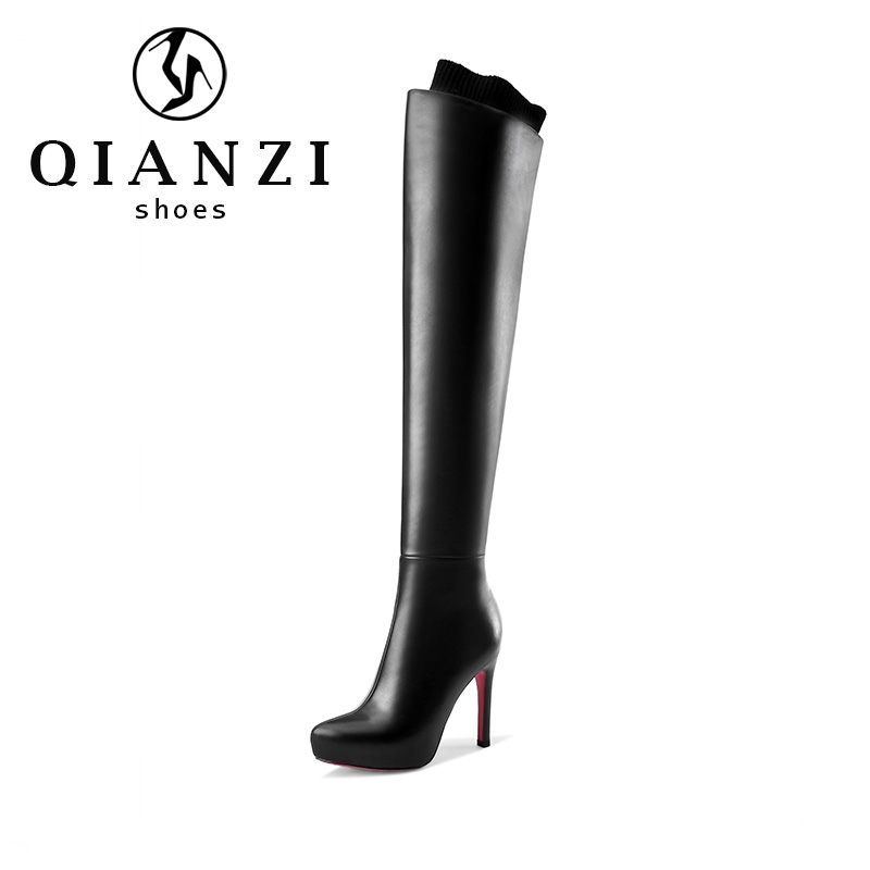 9438 Stable quality hight boots women over the knee boots woman