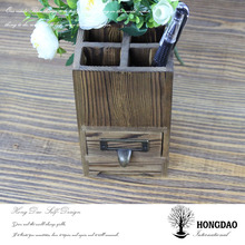 HONGDAO 2016 hot sale wood pen box, antique wooden pen box, office decoration wooden pen box