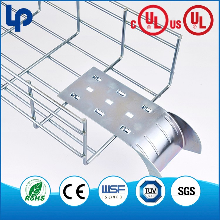 waterproof pvc insulated electric wire mesh cable trays , hot dig galvanized wire mesh cable tray