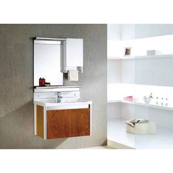 Sanitary Ware Wall Mounted Solid Wood Modern Bathroom Cabinet