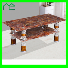 Brand New Colorful Glass Coffee Table