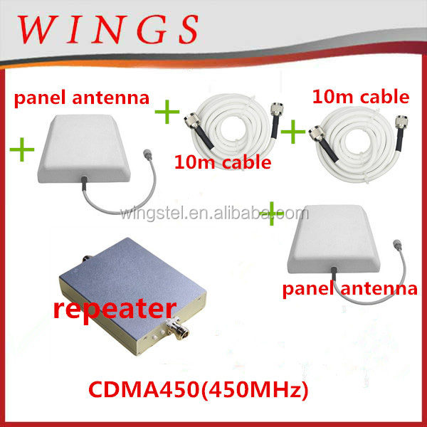 CDMA450MHz set:signal repeater+power adaptor+outdoor panel antenna with 10m cable+indoor panel antenna with 10m cable