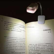 Booklight Led Ebook Light Mini Flexible Bright clip-on Book Reader Reading Desk Lamp Clip Button Cell Kindle Nook