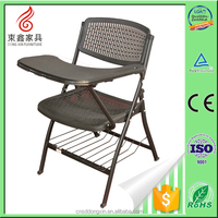 Latest product folding school training chair desk