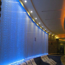 Side and End glow 3*0.75mm sparkle fiber optic cables fancy curtain with your logo or with your design