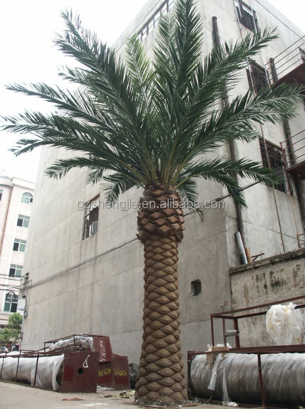 3 meter artificial PVC Bark dry date palm tree