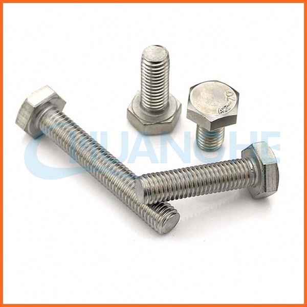 China manufacturer precise metal m16 gr5 din931 titanium hex bolt for motorcycle