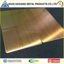 Online Shopping AISI Cold Rolled Rose Gold Hairline Stainless Steel Sheet 304 Made In China