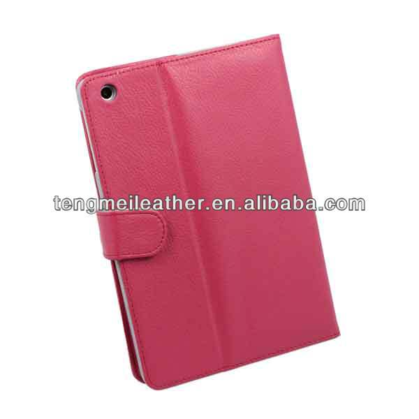 Rose Pattern PU Leather wallet stand hard back cover case for apple iPad mini