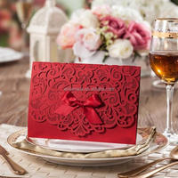 Elegant india wholesale handmade paper crafts European Wedding Invitation Card Embossed designs CW5016