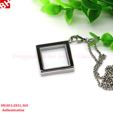 fashion glass floating locket 20/30/40mm stainless steel living floating charm locket