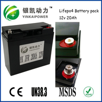 Lithium 26650 rechargeable 12v 20ah lifepo4 battery pack for solar street light,Rc airplane