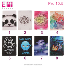 Pu leather wallet case colorful painting case phone cover for Ipad pro 10.5 flip kickstand shell cover