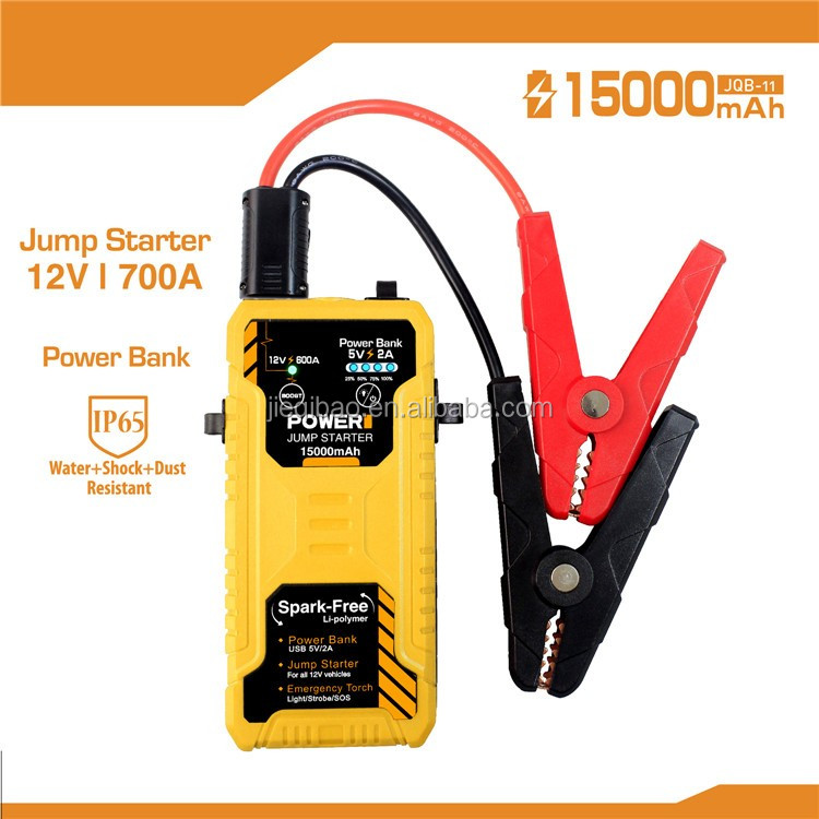 2017 Super Capacity Car Jump Starter 12V Mini Portable Power Bank SOS Lights Car Battery Charger for Petrol & Diesel Car