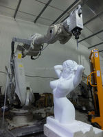 Industrial 6 axis robot arm combine with cnc router spindle for engraving 3d wood/stone machine