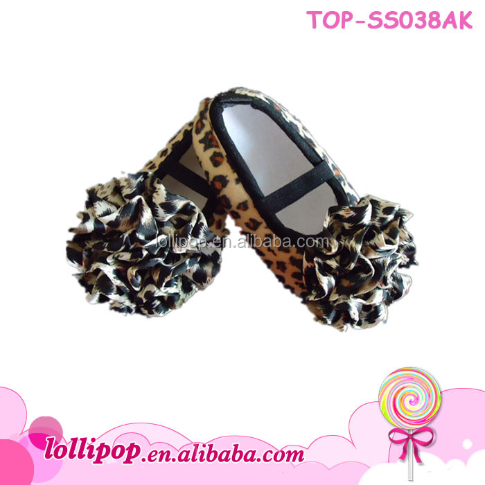 Hot sale! Top quality leopard lovely cotton baby won shoes