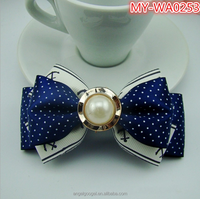Wholesale Korean headdress hairpin wave handmade pearl inlay small claw clip ribbon bow hair MY-IA0253