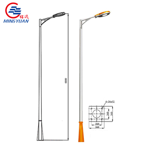 Round type Square Application Q235 steel street lighting post