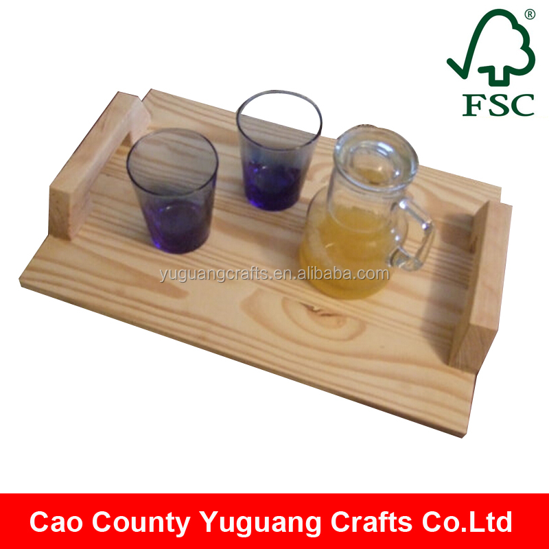 2016 New Designed Pine Wood Wooden Serving Tray