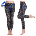 Floral Prints Yoga Pants Black Running Pants Sports Tights