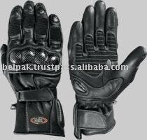 Short Carbon Kevlar motorcycle race street leather gloves