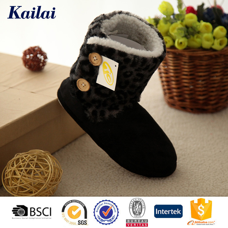 thin sole deep color boots suede fabric shoes