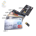 New products 2017 Credit Card Usb OEM for promotional gift