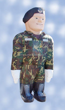 Promotion cold air balloon,inflatable army balloon,inflatable character shape