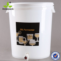 30l plastic home beer brewing kit with gallon maker