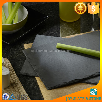 Wholesale rectangular natural black slate plate