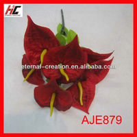 Silicone flowers artificial anthuriums plants for sale anthurium flowers