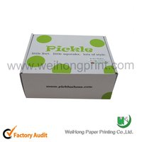 Dong Guan factory corrugated paper flat package shoe box wholesale