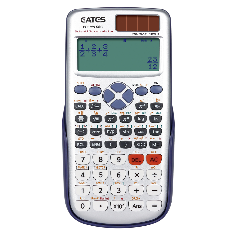Hot Selling 417 Functions Solar Power Electronic School Student Scientific Calculator For Korea Market