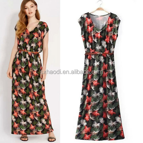 HD-D193 new design summer women maxi dress/OEM factory women chiffon maxi dresses design/ladies dress