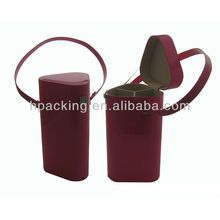 portable wine carrier for 3 bottles