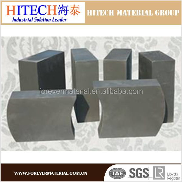 china supplier 18%C magnesium carbon brick for slag zone of ladle