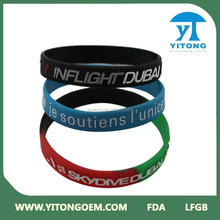 2016 new hot sale wholesale silicone bracelet,glow silicone wrist band, silicone bracelet wristbands