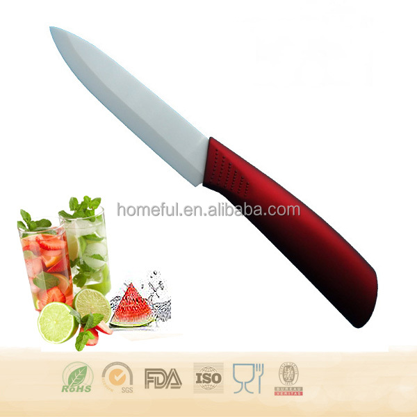 Promotional 4 inch colored utility knife Ceramic Cutting Knife