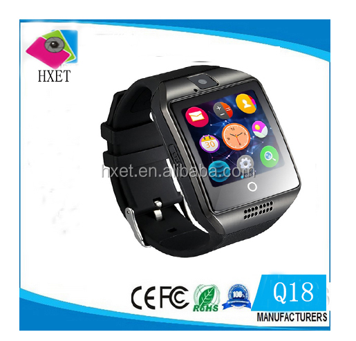 New item Curved screen bend screen SIM card slot camera NFC Q18 smart watch