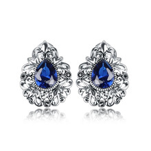 Taidian Brand Ohrringe Shevalues Luxury Sparkle Earrings 925 Sun Silver Jewelry Earring With Cz