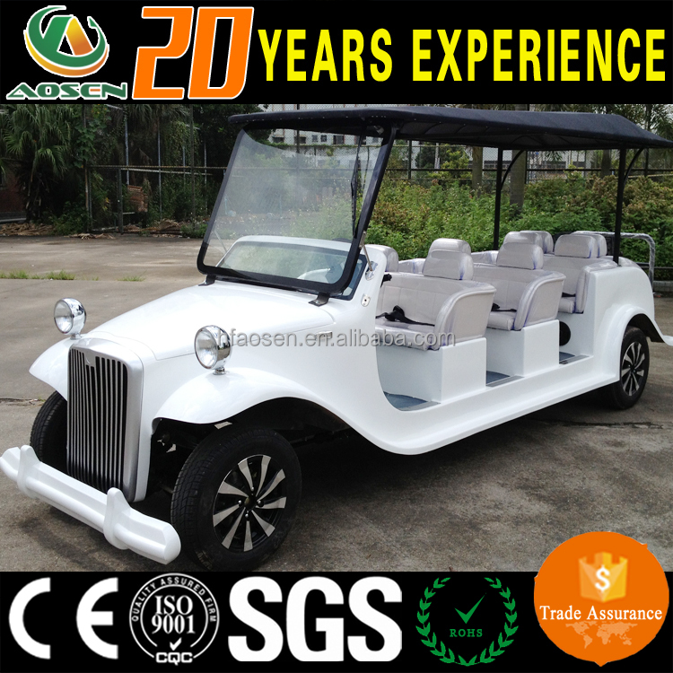 China factory Luxury design 8 seaters classic electric Golf carts car for Villas Upscale clubs Golf courses Parks