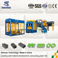 Automatic brick manufacturing plant/ fly ash brick making machine price/ Paver brick laying machine