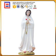 12 Inch Rosa Mistica Holy Figurine Religious Decoration Statue and polyresin virgin mary figurines