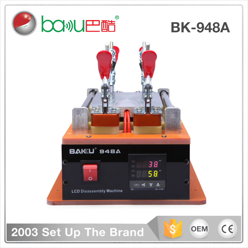 New Promotion BAKU BK-948A the new design mobile repairing lcd separator disassembly machine for cellphone screen remove