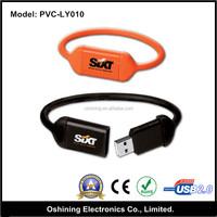 PVC Colorful Bracelet USB Pendrive 4gb,16gb USB Flash Drive Promotion Gift,Wrist Cheap USB Hard drive 8gb(PVC-LY010)
